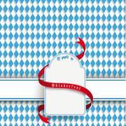 bavarian oktoberfest flyer banner emblem - stock illustration