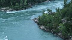 Niagara River in Niagara Falls Stock Footage