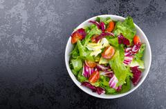 Fresh mixed salad with endive and cherry Stock Photos