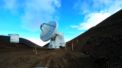 Remote Astronomy Science Observatory Technology Optical Antenna Stock Footage