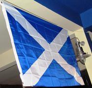 the scottish blue and white flag - stock photo