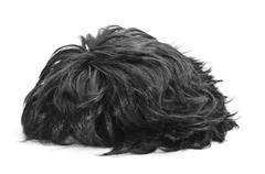 black hair wig - stock photo
