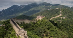 4K time lapse of the magnificent Great Wall of China at Mutianyu Stock Footage