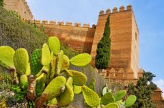 alcazaba of almeria, in almeria, spain - stock photo