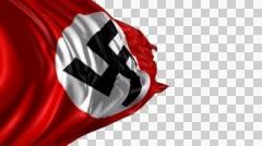 Swastika Nazi flag Stock Footage