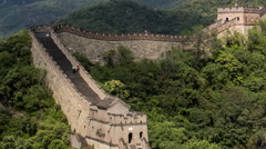 Time lapse moving up The Great Wall of China in the Mutianyu mountains - stock footage
