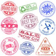 Stock Illustration of retail rubber stamps