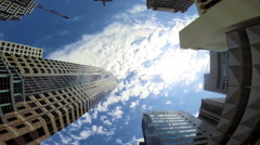 Cities Resolution to Urban Living Skyscrapers Office blocks  Los Angeles Stock Footage