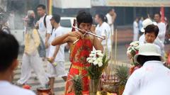 Phuket Vegetarian Festival on Oct 1, 2014 Stock Footage