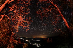 4K. Time lapse of stars behind mountain. Sokolinoye, Crimea Stock Footage