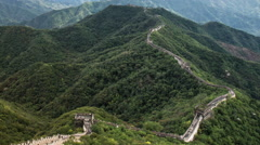Time lapse of the amazing Great Wall of China in the Mutianyu mountain range - stock footage