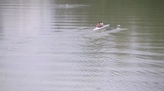River tiber canoeing Stock Footage