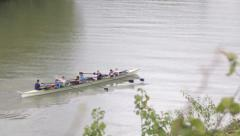 Canoing in rome Stock Footage