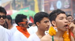 Phuket Vegetarian Festival on Oct 1, 2014 Stock Footage