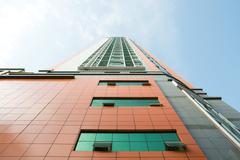 High rise, low angle view - stock photo