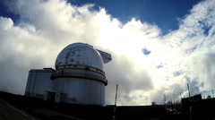 Astronomical Observatory Dome Research Facility Satellite Telescope POV Driving - stock footage