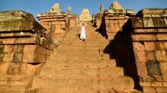 Buddhist Praying / Worshiping at Angkor Wat Temple Cambodia - stock footage