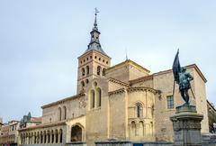church of st. martin segovia - stock photo