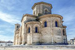 romanesque style in fromista, palencia - stock photo