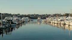 Yacht on the Swan River Coming In To Dock Stock Footage