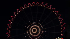 Ferris wheel at night Stock Footage
