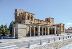 the san vicente basilica in avila, spain - stock photo