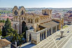 The san vicente basilica in avila, spain Stock Photos