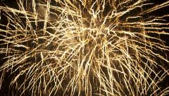 Abstract background - fireworks, full screen, Festive scene Stock Footage