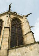 Church, low angle view of apse - stock photo