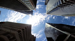Vertical Cities Urban Living Skyscrapers Los Angeles USA - stock footage