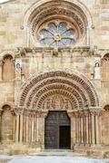 Romanesque church of santo domingo in soria Stock Photos