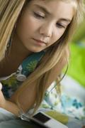 Young girl contemplating - stock photo