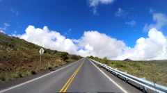 POV driving land vehicle Mt Mauna Kea Hawaiian Islands USA - stock footage