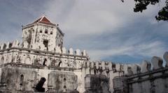 BANGKOK, THAILAND - Interior Phra Sumen Fort Courtyard Stock Footage