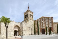 church of san miguel olmedo - stock photo