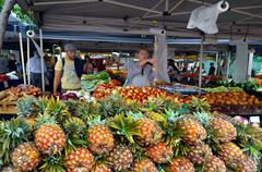 Jan powers farmers markets in brisbane city Stock Photos
