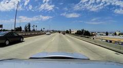 POV driving city suburban commuter traffic Los Angeles USA - stock footage