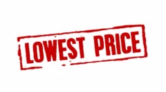Lowest Price Red Stamp Transition - stock footage