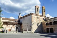 monastery of san antonio el real in segovia - stock photo