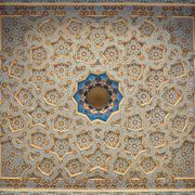 Ornately painted ceiling, Bukhara, Uzbekistan Stock Photos