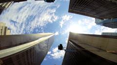 Skyscrapers business blue sky clouds Urban scene Los Angeles Stock Footage
