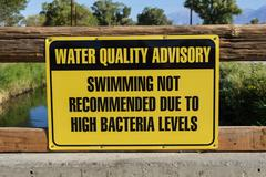 water quality advisory sign - stock photo