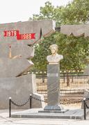 Monument to alexander mironenko Stock Photos