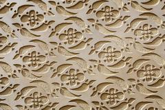 moorish patterned wall decoration segovia - stock photo