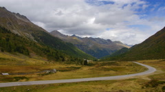 Road in Alps, Ultra HDTV time-lapse Stock Footage