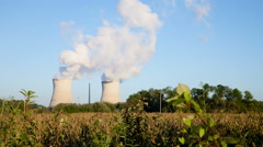 Timelapse of nuclear power plant Stock Footage