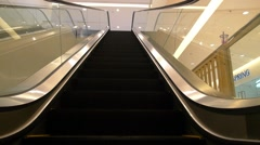 Escalator in Modern Office Building. Slow Motion. Stock Footage