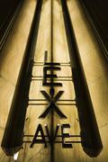 Lexington avenue sign in the Chrysler Building lobby, Manhattan, New York City Stock Photos