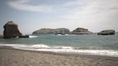 Cala Nave and Santo Stefano in Ventotene, Italy Stock Footage
