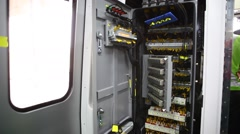 Interior of new Metro Train Stock Footage